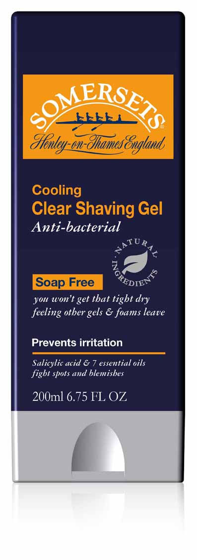 Somersets Cooling Shave Gel - 200ml - Click Image to Close